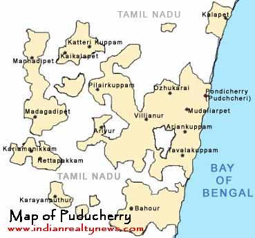 Map of Pondicherry